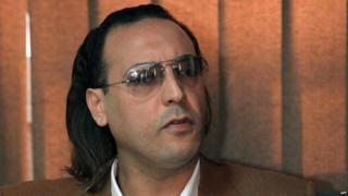 The eldest son of Libayan leader Moamer Kadhafi, Hannibal,