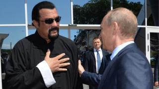 Vladimir Putin ve Steven Seagal