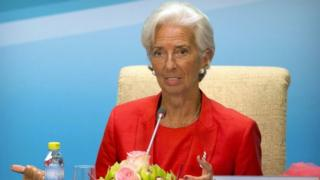 IMF head Christine Lagarde, 22 July 2016