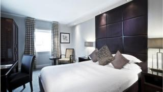 A hotel room in Millennium Hotels Chelsea Football Club, London