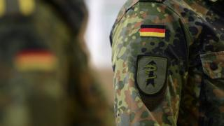 "The sign of the ""Ostfriesland"" rapid-reaction medical unit of the Bundeswehr, the German armed forces"