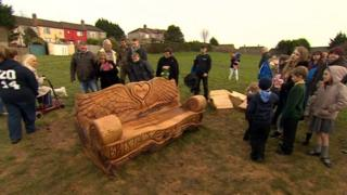 Becky Watts bench unveiling