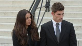 Ched Evans and his fiancee Natasha Massey