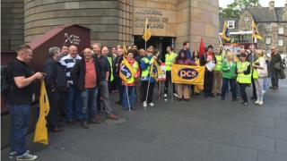 National Museum of Scotland picket Pic: Steven Cassidy