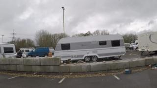 Travellers at Redbridge Park and Ride