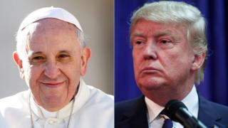 フランシスコ法王とトランプ氏