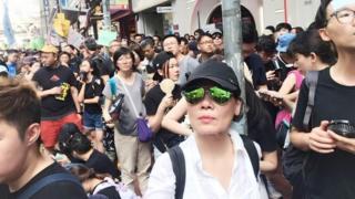 Nhà báo BBC News Tiếng Việt giữa biển người biểu tình Hong Kong