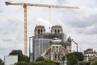 in_pictures Work on top of Notre-Dame Cathedral, in Paris, France, 08 June 2020