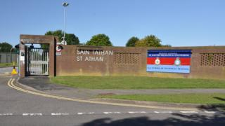 Airfield entrance -in St Athan