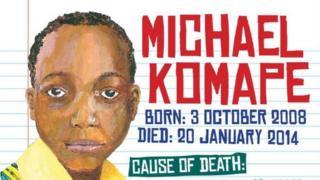 Campaign poster of Michael Komape