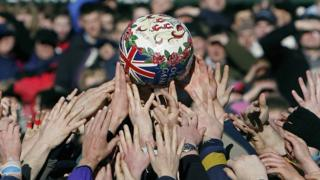 animals Shrove Tuesday Football in Ashbourne