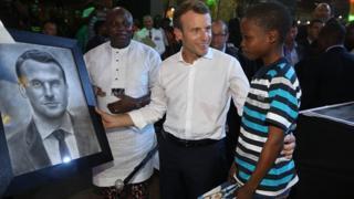 11-year-old Nigeria Artist meets France President Emmanuel Macron