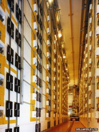 Plutonium storage (c) Sellafield Ltd