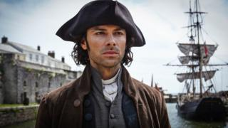Ross Poldark in Charlestown Harbour
