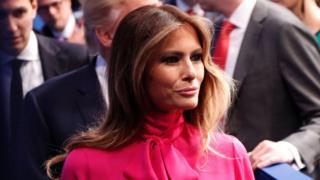 Melania Trump, esposa de Donald Trump