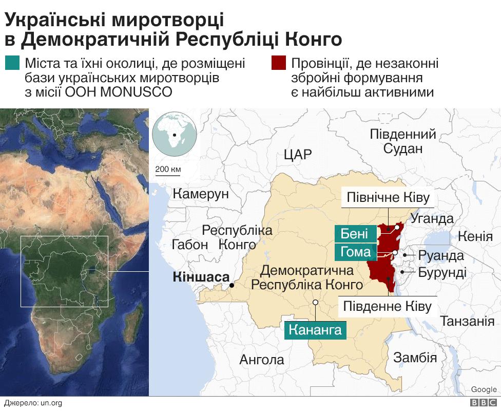Українські миротворців в ДР Конго