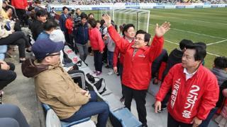 경남FC 측은 황교안 측에 경기장 내에선 선거 운동을 하지 못하도록 설명했지만, 무시당했다고 주장하고 있다