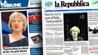 Foreign newspaper headlines