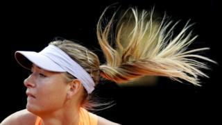 ماریا شاراپووا، فاتح پنج گرنداسلم تنیس جهان، ماه پیش بعد از پایان دوران محرومیتش به رقابتهای تنیس بازگشت