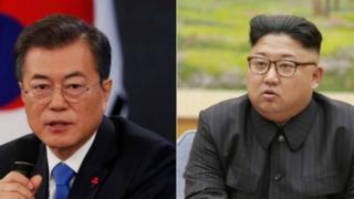 الزعيمان الكوريان الجنوبي والشمالي