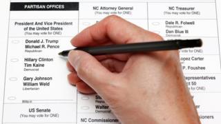 Cédula de votación en Estados Unidos