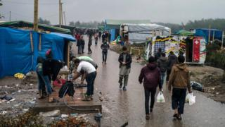 "The ""Jungle"" migrant camp outside Calais"