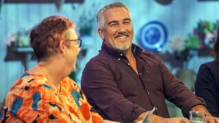 Paul Hollywood with Jo Brand