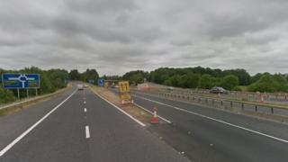 A1(M) southbound near the Newton Aycliffe junction