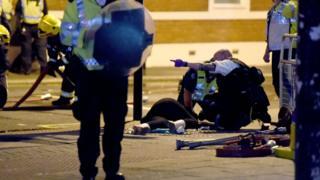Çıkan olaylarda 4 protestocu gözaltına alındı