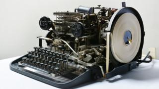 A Lorenz teleprinter