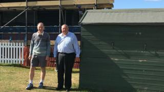 John Williams and Paul Whittaker of Bury St Edmunds Cricket Club.