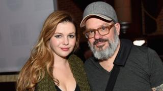 Actors Amber Tamblyn and David Cross attend Urban Arts Partnership at the 15th annual The 24 Hour Plays On Broadway in New York, 16 November 2015