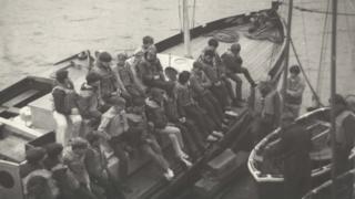 TRINC Boys receiving rigging pre instruction