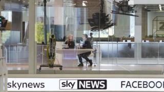 Sky News studio