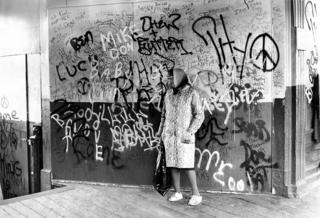 Archive image of graffiti at a Philadelphia subway station
