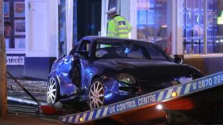 Maserati crash in Hove