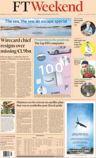 ai marketing 5g smartphones nanotechnology developments The FT Weekend front page 20 June