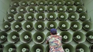 Bắc Hàn, Nam Hàn, loa phóng thanh