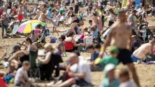 People on Scarborough beach on Wednesday