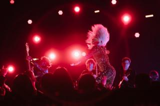 Lady Gaga performs onstage at the 61st annual Grammy Awards at Staples Center on 10 February 2019 in Los Angeles, California.