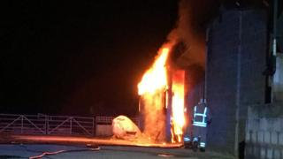 Fire at Manor Farm
