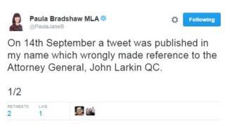 Paula Bradshaw tweet