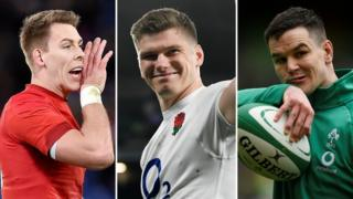 Liam Williams, Owen Farrell, Johhny Sexton
