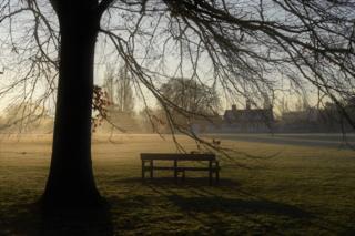 University Park on a frosty morning