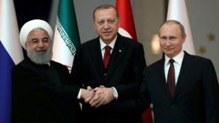 Putin, Rouhani y Erdogan.