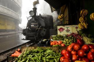 A Darjeeling Himalayan Railway (DHR) steam train