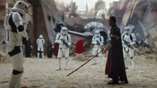 Rogue One: Bir Star Wars Hikayesi filminden bir sahne