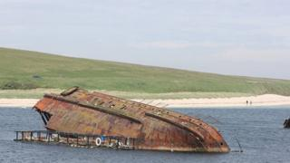 A block ship in Scapa Flow