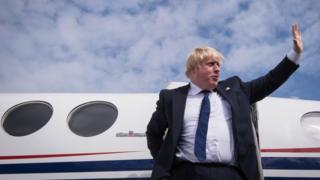 Boris Johnson at East Midlands Airport