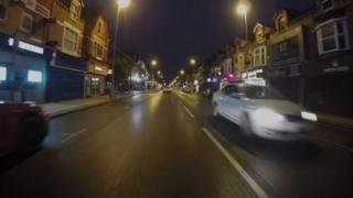Teesside street at night
